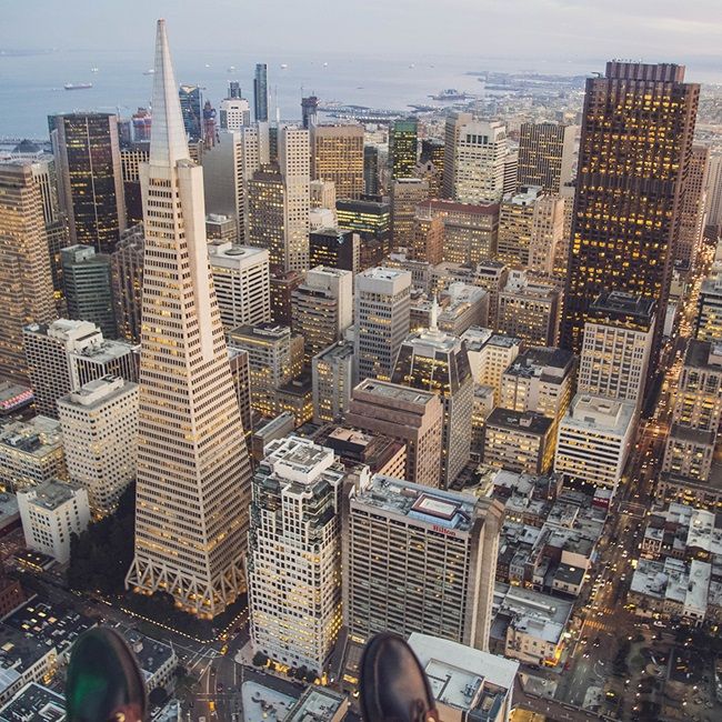 Aerial view of San Francisco buildings