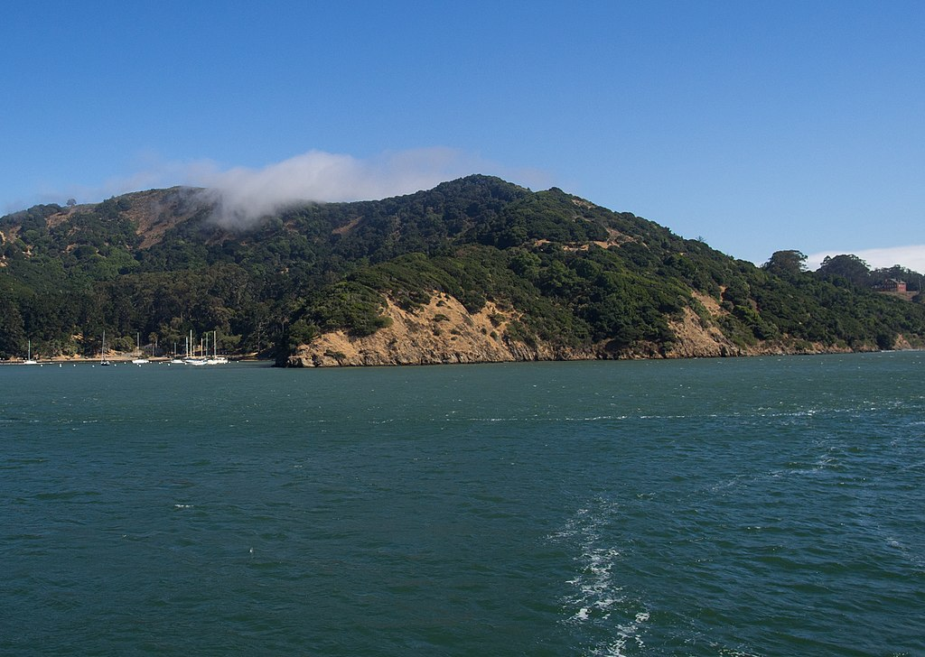Angel Island viewed from a ferry