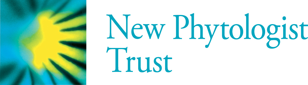 "Logo with blue text ""New Phytologist Trust"""