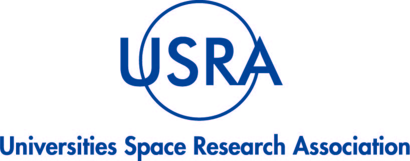 "Blue logo with text ""Universities Space Research Association"""