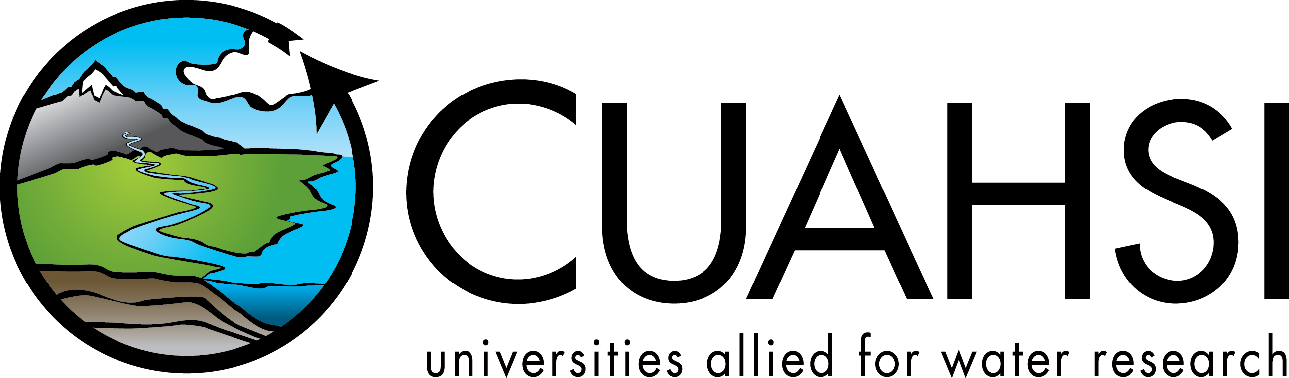 "CUAHSI logo with text ""universities allied for water research"""