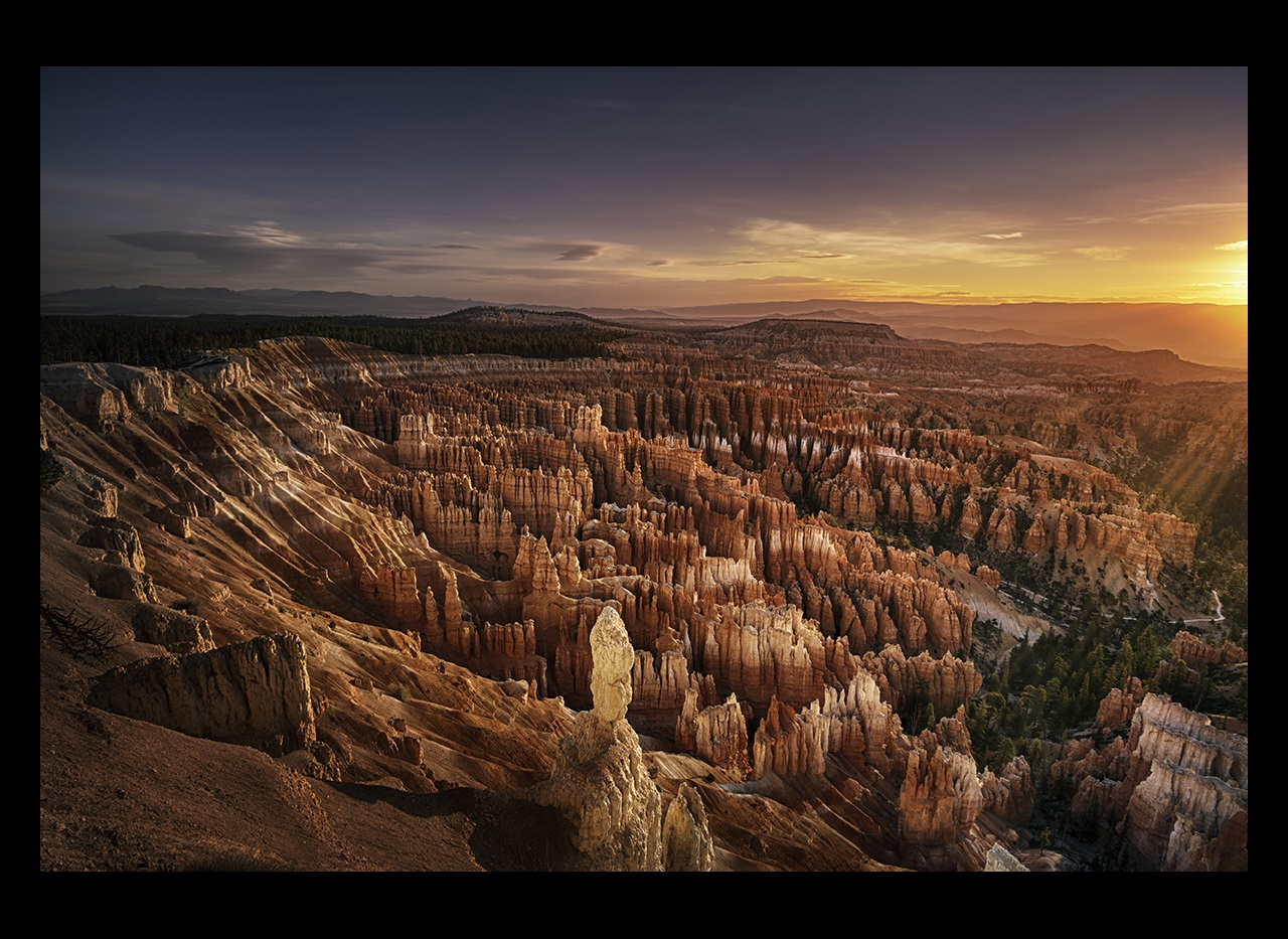 Morning sunlight over Bryce Canyon, USA