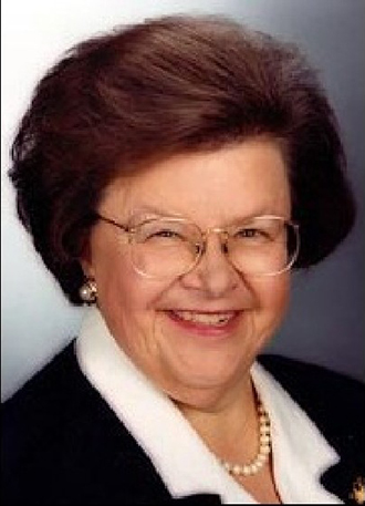 Headshot of AGU Presidential Citation Awardee Senator Barbara Mukulski