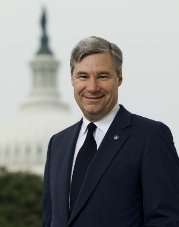 Headshot of AGU Presidential Citation Awardee Senator Sheldon Whitehouse