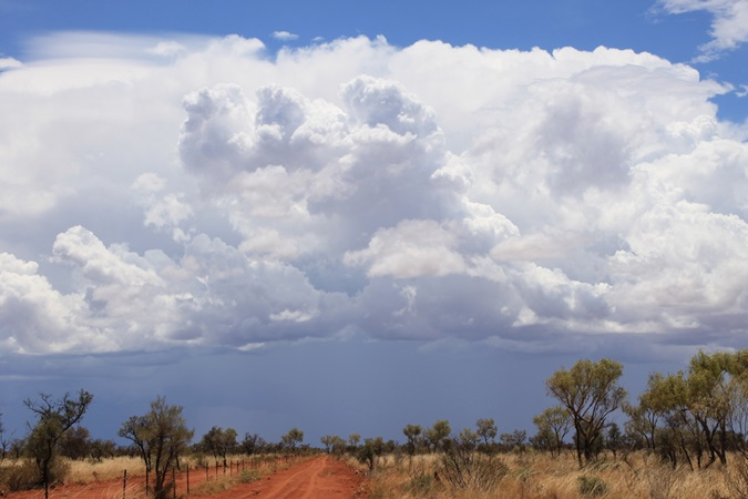 Approaching storm on a savanna in Australia