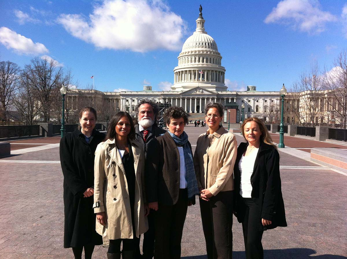 CVD participants in front of the capitol building