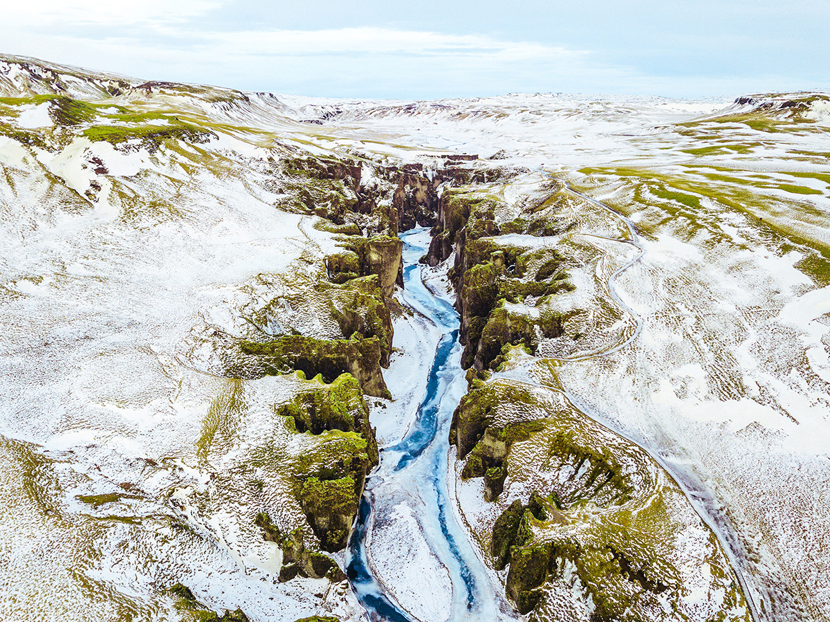 Frozen River in iceland