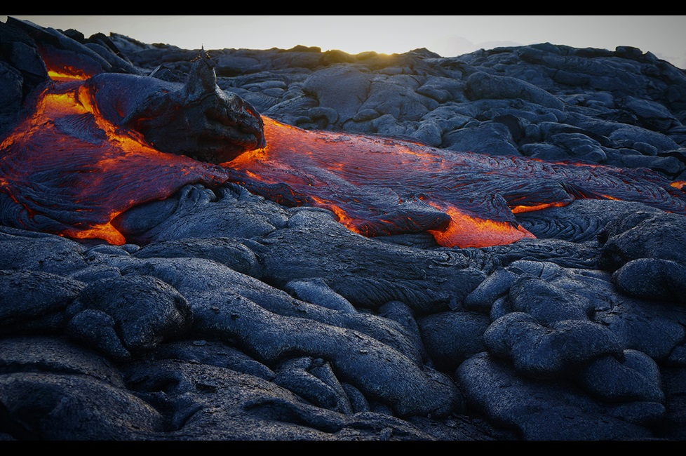Photo of a lava flow in Hawaii