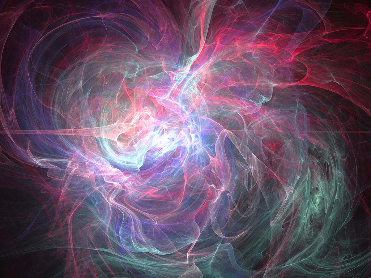 Illustration of chaos abstract fractal effect light design