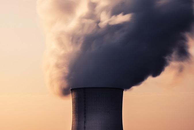 Air pollution from a nuclear power plant