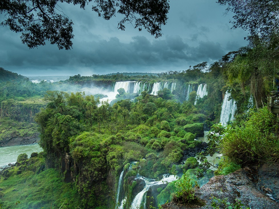 Waterfalls in the rainforest in Argentina