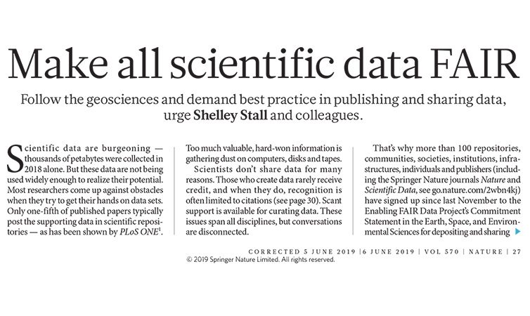 Make scientific data fair
