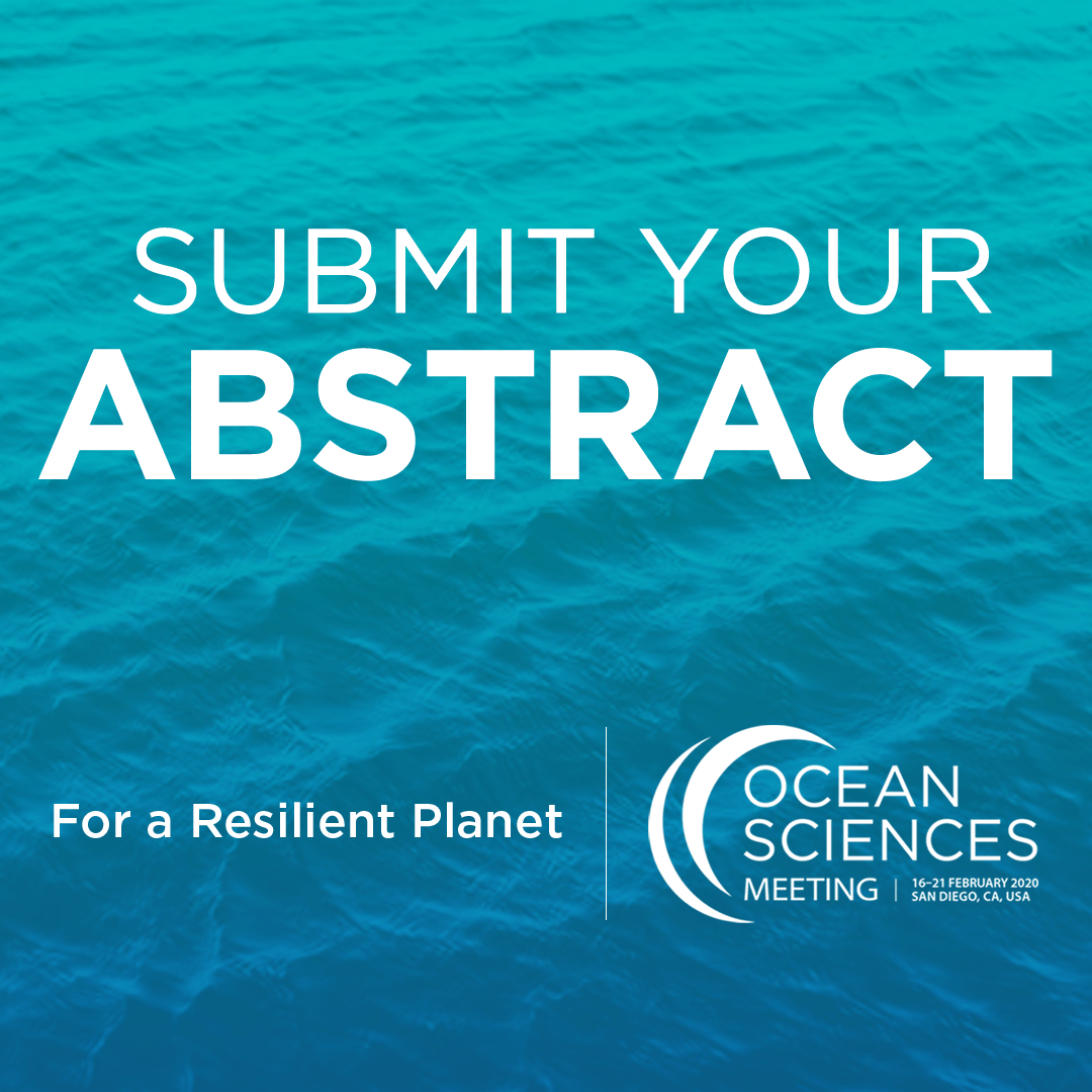 "Image with the Ocean Sciences logo that reads ""Submit your abstract"""