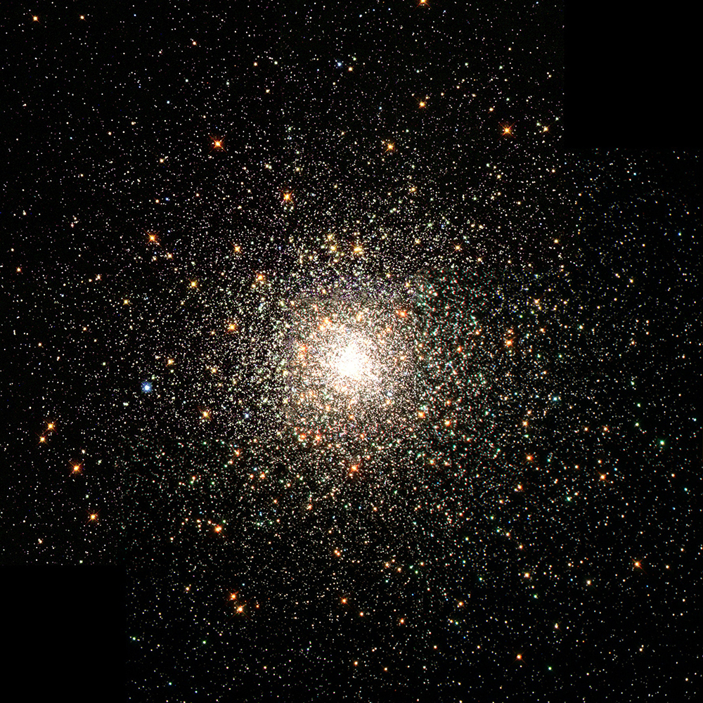 Square image of space and stars