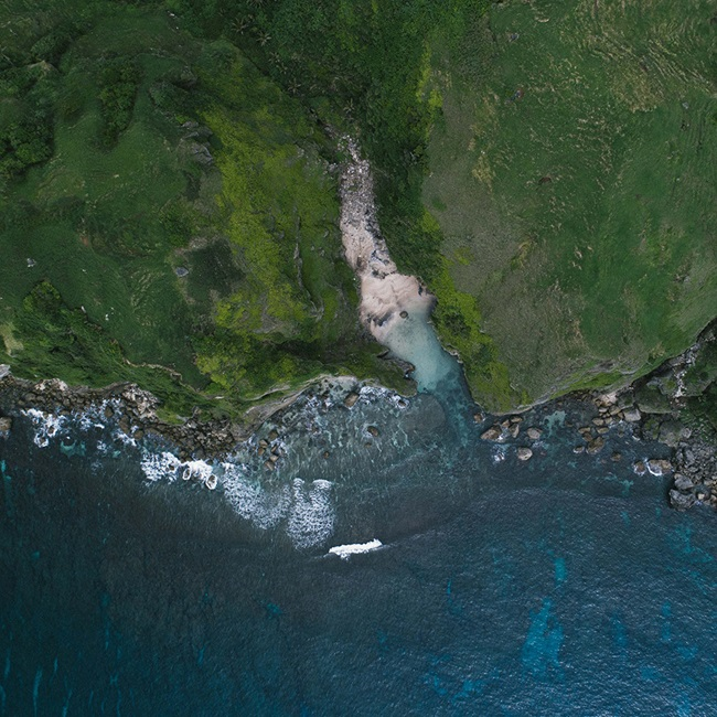 Aerial view of Philippine coastline