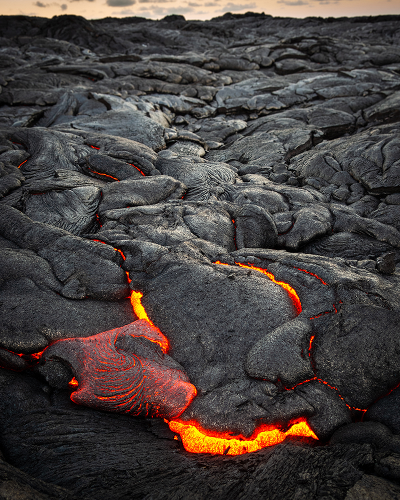 Lava flowing in Hawaii Volcanoes National Park