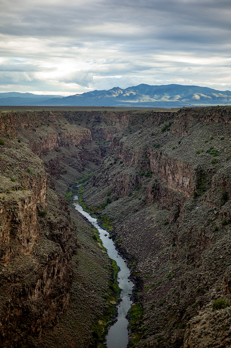 River gorge in rocky desert